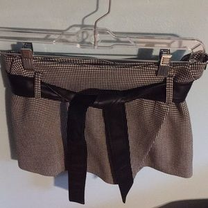 NWOT Zara Skort with Leather Belt